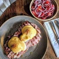 Eggs Benedict at Boma WBR London