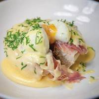 Eggs Benedict at Craft and Dough Sheffield