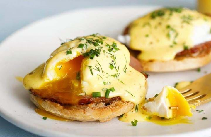 Eggs Benedict at Summerhouse in London