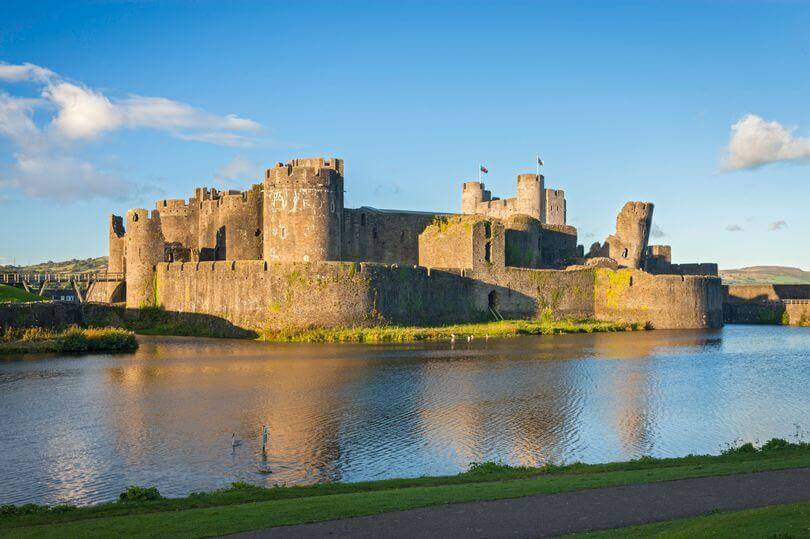 Caerphilly Castle in Wales, visit for free for St David's Day and a day of Welsh Celebration