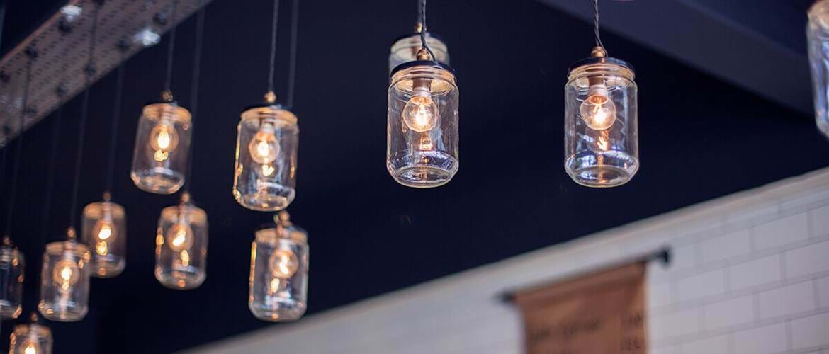 Lights at Brew and Brownie in York, Brunch in York, Breakfast in York