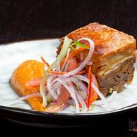 Pork Belly at El Inca Plebeyo, Brunch in North London, Ecuardorian Restaurant, Brunch in London, South American Brunch
