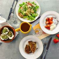 Sharing Dishes at Sardine, South of France, French Cuisine French Brunch, Cassoulet