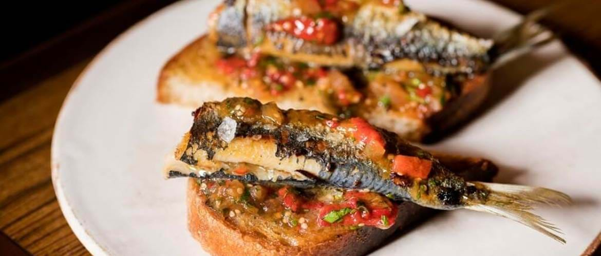 Sardines on Toast at Social Wine and Tapas